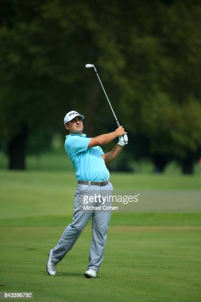 Stephan Jaeger of Germany during the first round of the Nationwide Children's Hospital Championship held at The Ohio State University Golf Club on...