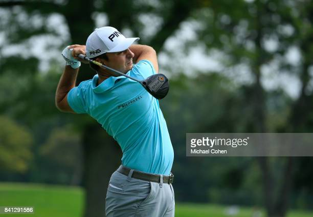 Stephan Jaeger of Germany hits his drive on the sixth hole during the first round of the Nationwide Children's Hospital Championship held at The Ohio...