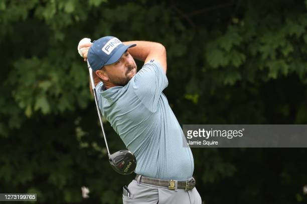 Stephan Jaeger of Germany plays his shot from the 12th tee during the first round of the 120th U.S. Open Championship on September 17, 2020 at Winged...