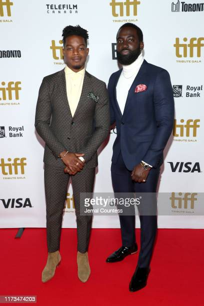 Stephan James and Shamier Anderson attend the 2019 Toronto International Film Festival TIFF Tribute Gala at The Fairmont Royal York Hotel on...