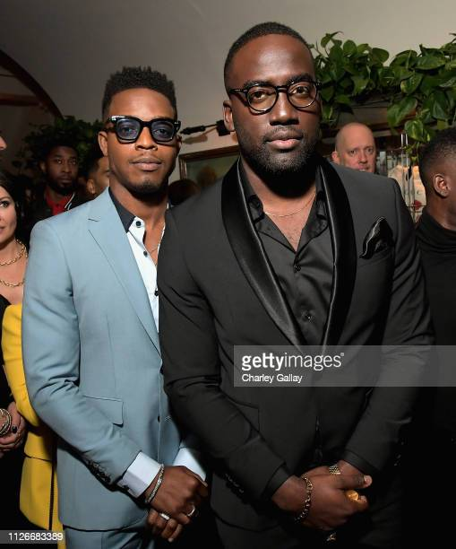 Stephan James and Shamier Anderson attend the Cadillac Oscar Week Celebration at Chateau Marmont on February 21 2019 in Los Angeles California