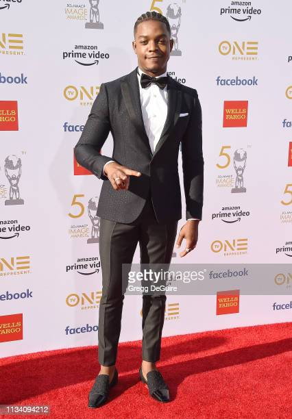 Stephan James arrives at the 50th NAACP Image Awards at Dolby Theatre on March 30 2019 in Hollywood California