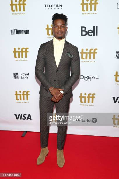 Stephan James attends the 2019 Toronto International Film Festival TIFF Tribute Gala at The Fairmont Royal York Hotel on September 09 2019 in Toronto...