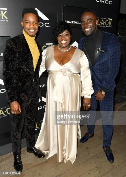 Stephan James Carmelita Anderson and Shamier Anderson attends The Annual Black Ball powered by Cîroc Black Raspberry and Don Julio on February 20...