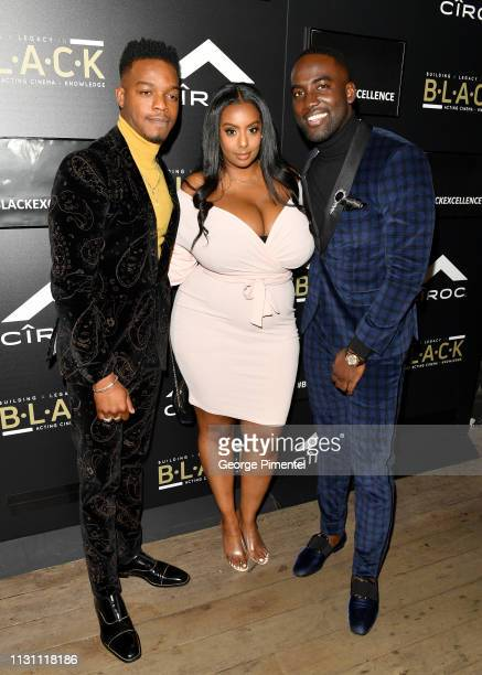 Stephan James Martha Hagos and Shamier Anderson attends The Annual Black Ball powered by Cîroc Black Raspberry and Don Julio on February 20 2019 in...