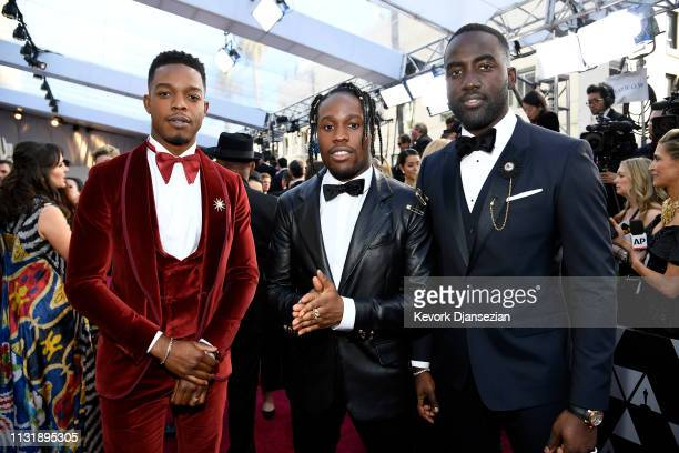 Stephan James Shameik Moore and Shamier Anderson attend the 91st Annual Academy Awards at Hollywood and Highland on February 24 2019 in Hollywood...