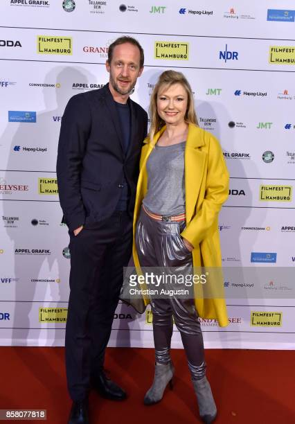 Stephan Kampwirth and Johanna Christine Gehlen attend the premiere of 'Lucky' during the opening night of Hamburg Film Festival 2017 at Cinemaxx...