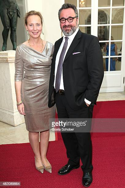 Stephan Kuffler and his wife Stephanie Kuffler during the 'Die Goldene Deutschland' Gala on July 26 2015 at Cuvillies Theater in Munich Germany