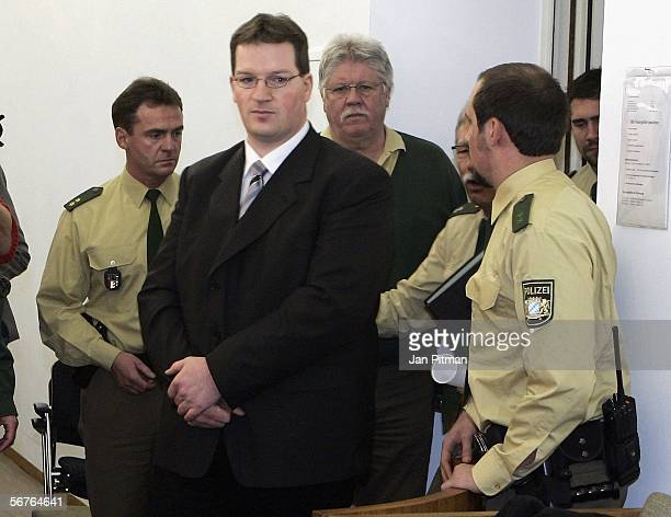Stephan L enters a court room at the beginning of his trial on February 7 2006 in Kempten Germany Hospital nurse Stephan L is accused of killing 29...