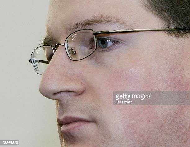 Stephan L sits in a court room at the beginning of his trial on February 7 2006 in Kempten Germany 27 years old Hospital nurse Stephan L is accused...