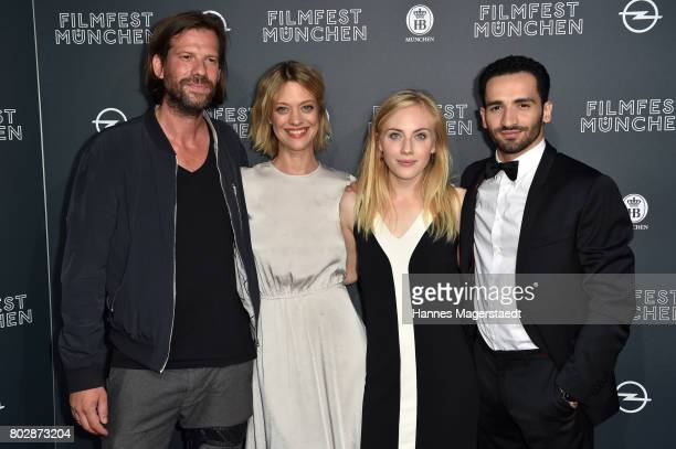 Stephan Lacant, Heike Makatsch, Elisa Schlott and Hassan Akkouch attend the 'Fremde Tochter' Premiere during Film Festival Munich 2017 at Arri Kino...