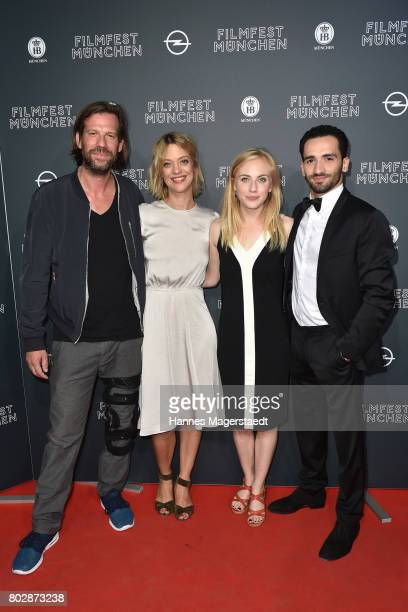 Stephan Lacant Heike Makatsch Elisa Schlott and Hassan Akkouch attend the 'Fremde Tochter' Premiere during Film Festival Munich 2017 at Arri Kino on...