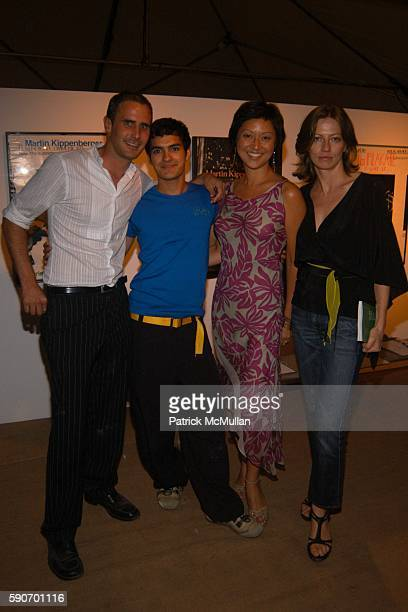 Stephan Lang Christine Y Kim and Mia Enell attend The Watermill Summer Benefit BRAZIL at The Watermill Center on July 30 2005 in Water Mill NY