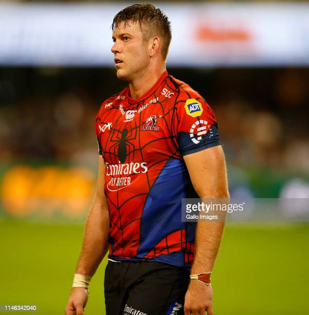 Stephan Lewies of the Emirates Lions looks on during the Super Rugby match between Cell C Sharks and Emirates Lions at Jonsson Kings Park Stadium on...
