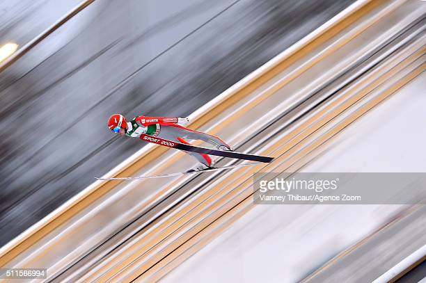 Stephan Leyhe of Germany competes during the FIS Nordic World Cup Men's Ski Jumping HS130 on February 21 2016 in Lahti Finland