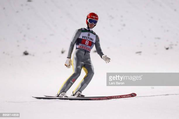 Stephan Leyhe of Germany competes on day 2 of the FIS Nordic World Cup Four Hills Tournament ski jumping event on December 30 2017 in Oberstdorf...