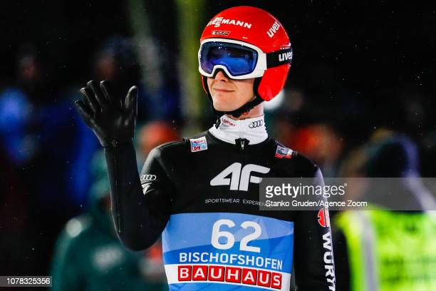 Stephan Leyhe of Germany takes 2nd place during the FIS Nordic World Cup Four Hills Tournament on January 6 2019 in Bischofshofen Austria