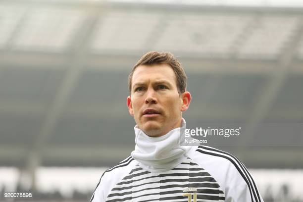 Stephan Lichtsteiner before the Serie A football match between Torino FC and Juventus FC at Olympic Grande Torino Stadium on 18 February 2018 in...