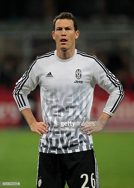 Stephan Lichtsteiner before the serie A match between AC Milan and Juventus FC at Giuseppe Meazza stadium on april 9 2016 in Milano italy