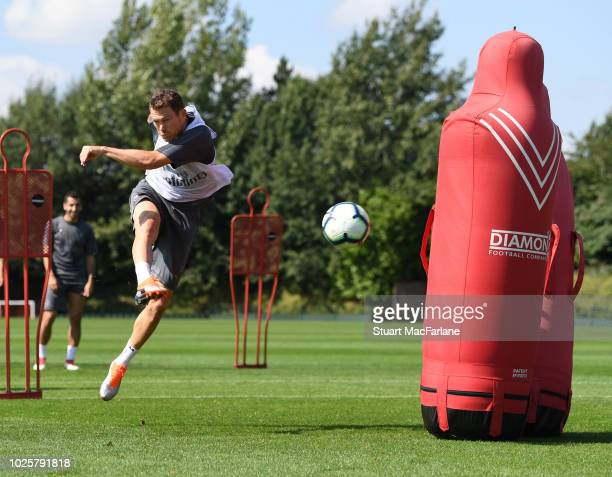Stephan Lichtsteiner of Arsenal during a training session at London Colney on September 1 2018 in St Albans England