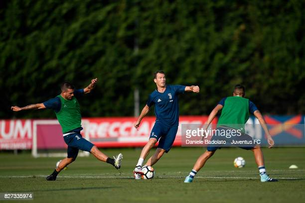 Stephan Lichtsteiner of Juventus during a training session on August 7 2017 in Vinovo Italy