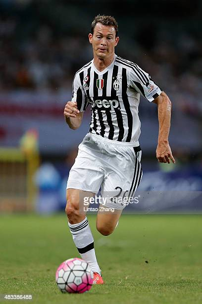 Stephan Lichtsteiner of Juventus FC in action during the Italian Super Cup final football match between Juventus and Lazio at Shanghai Stadium on...