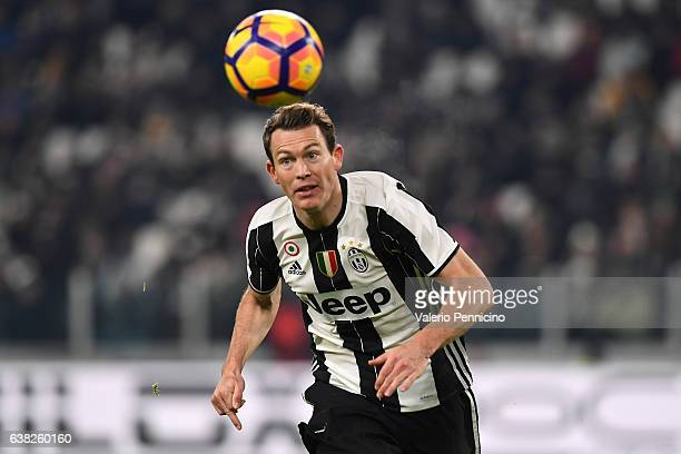 Stephan Lichtsteiner of Juventus FC looks on during the Serie A match between Juventus FC and Bologna FC at Juventus Stadium on January 8 2017 in...