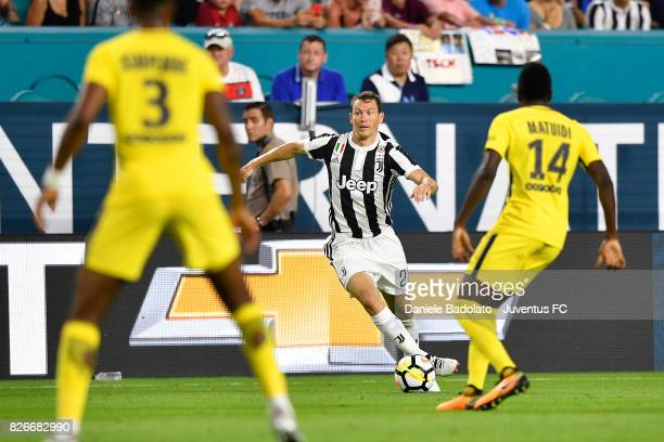 Stephan Lichtsteiner of Juventus in action during the International Champions Cup 2017 match between Paris Saint Germain and Juventus at Hard Rock...