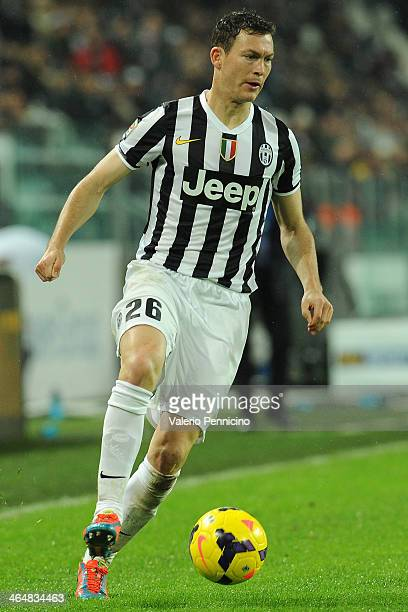 Stephan Lichtsteiner of Juventus in action during the Serie A match between Juventus and UC Sampdoria at Juventus Arena on January 18 2014 in Turin...