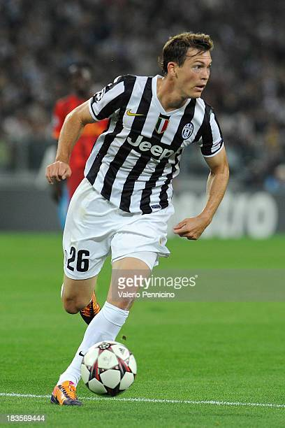 Stephan Lichtsteiner of Juventus in action during UEFA Champions League Group B match between Juventus and Galatasaray AS at Juventus Arena on...