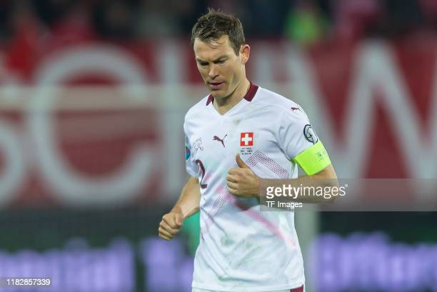 Stephan Lichtsteiner of Switzerland looks on during the UEFA Euro 2020 Qualifier between Switzerland and Georgia on November 15 2019 in St Gallen...