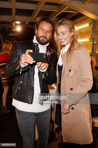 Stephan Luca and Cosima Auermann attend the UZwei Store Opening on September 6 2017 in Hamburg Germany