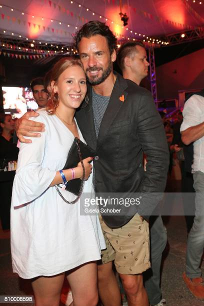 Stephan Luca and his daughter Emely Luca during the 50th anniversary celebration of Marc O'Polo at its headquarters on July 6 2017 in Stephanskirchen...