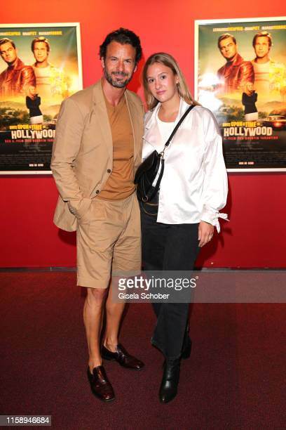 Stephan Luca and his daughter Emely Luca during the premiere of Once Upon A Time In Hollywood leaving at CineStar on August 1 2019 in Berlin Germany