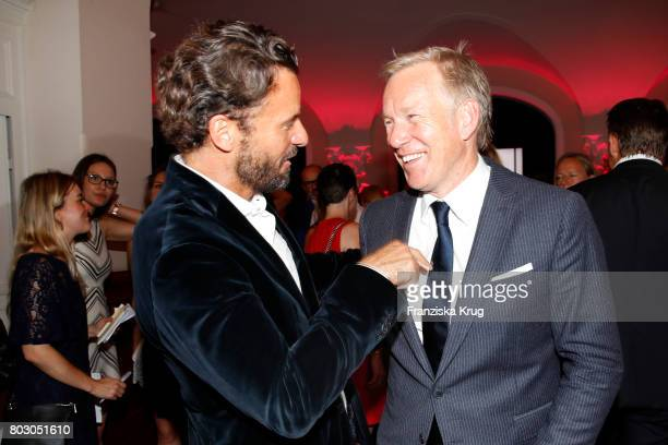 Stephan Luca and Johannes B Kerner attend the Emotion Award at Laeiszhalle on June 28 2017 in Hamburg Germany