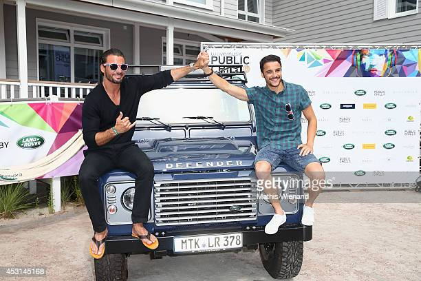 Stephan Luca and Kostja Ullmann attend the Land Rover Public Chill 2014 at Beach Motel on August 3 2014 in St PeterOrding Germany
