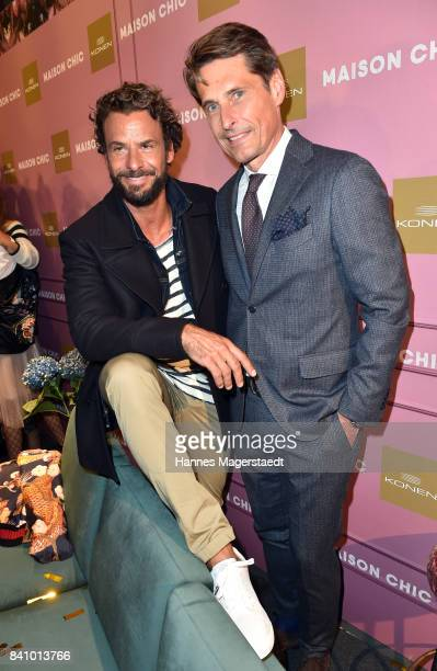 Stephan Luca and Peter Eberle during the Maison Chic event at KONEN on August 30 2017 in Munich Germany