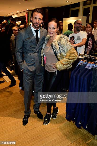Stephan Luca and Sonja Kirchberger attend the Anson's Fashion Night on October 1 2014 in Hamburg Germany