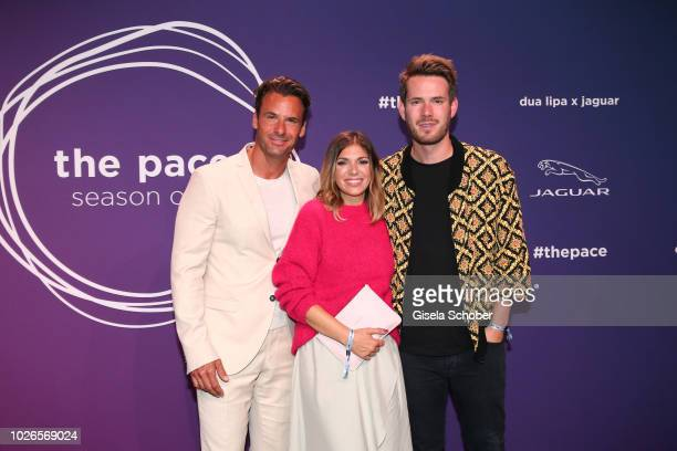 Stephan Luca Johannes Strate singer of the band Revolverheld and his girlfriend Anna Angelina Wolfers during the 'Dua Lipa x Jaguar The PACE 'Season...