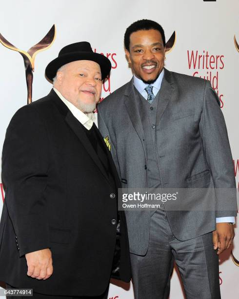 Stephan McKinley Henderson and Russell Horsny attend 69th Writers Guild Awards at Edison Ballroom on February 19 2017 in New York City