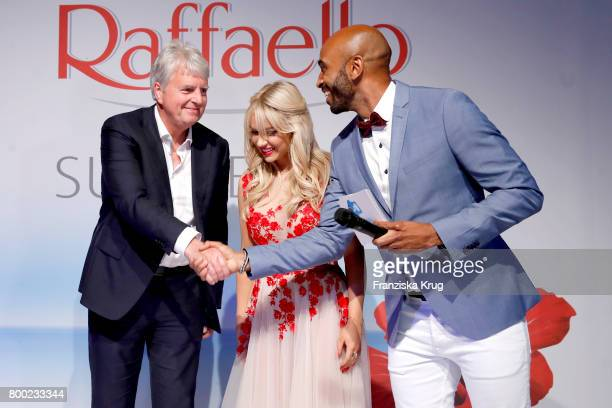 Stephan Niessner Shirin David and Chris Brow attend the Raffaello Summer Day 2017 to celebrate the 27th anniversary of Raffaello on June 23 2017 in...
