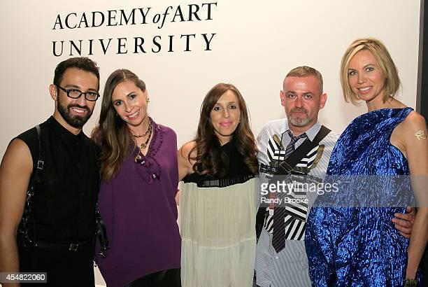 Stephan Rabimov Stella Melomedman Julie Tabarovsky Simon Ungless and Natalia Rotaru attend the Academy Of Art University Spring 2015 Collections...