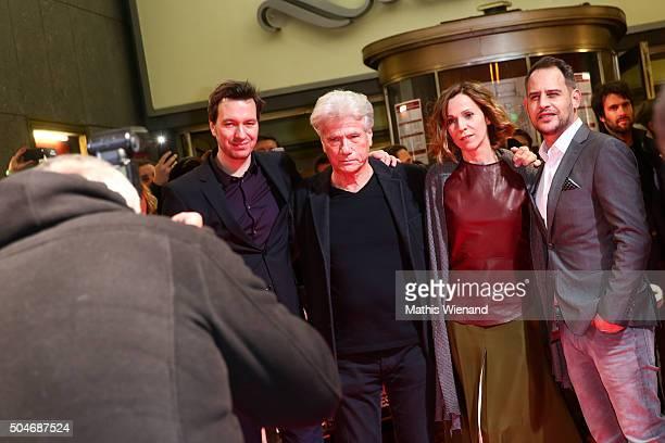 Stephan Rick Juergen Prochnow Doris Schretzmayer Moritz Bleibtreu attends the premiere for the film 'Die dunkle Seite des Mondes' at Lichtburg on...