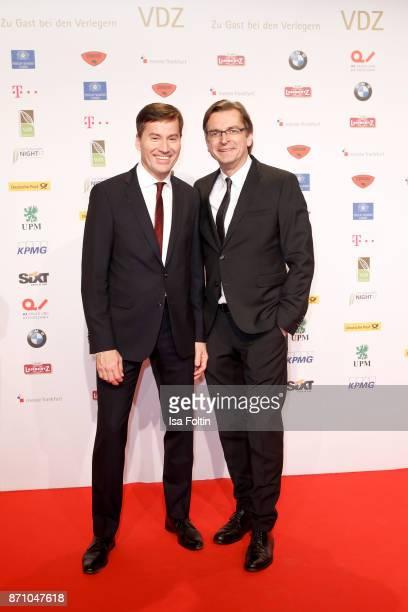 Stephan Scherzer and Claus Strunz during the VDZ Publishers' Night at Deutsche Telekom's representative office on November 6 2017 in Berlin Germany