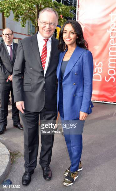 Stephan Weil and Sawsan Chebli during the LV Lower Saxony Summer Party on June 25 2018 in Berlin Germany