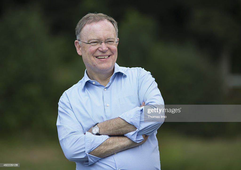 Stephan Weil, Prime Minister of German State Lower-Saxony, poses for a portrait during his summertour through lower saxony on July 16, 2014 in Bodenwerder, Germany.