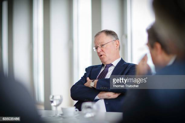Stephan Weil, prime minister of the German state of Lower Saxony, gestures during an Interview on February 10, 2017 in Berlin, Germany.