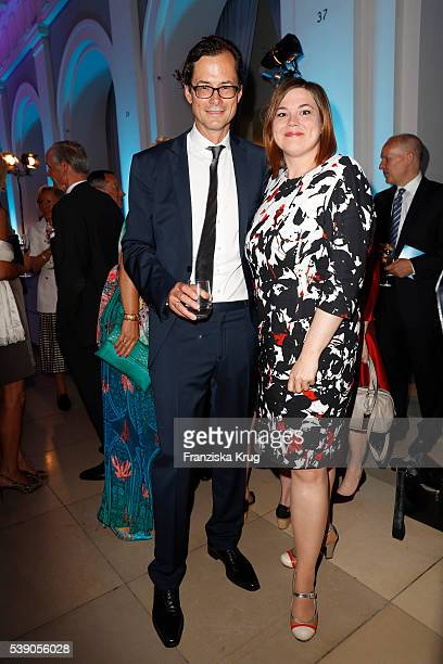 Stephan Willems and Katharina Fegebank attend the 'Das Herz im Zentrum' Charity Gala on June 9, 2016 in Hamburg, Germany.