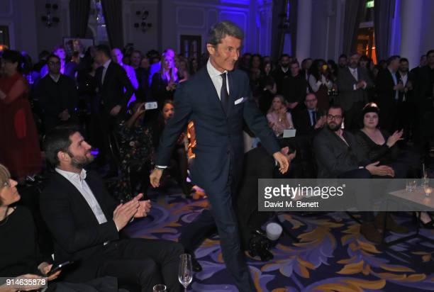 Stephan Winkelmann accepts an award at the GQ Car Awards 2018 in association with Michelin at Corinthia London on February 5 2018 in London England