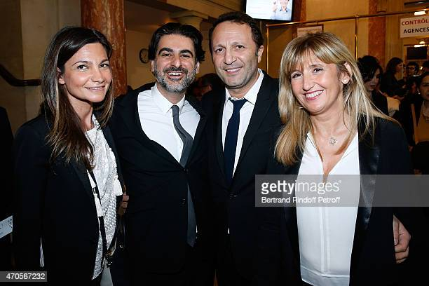 Stephane Asbanian with his wife Katia Arthur Essebag and Judith Aboulkheim attend the Concert in Memory of 100th Anniversary of Armenian Genocide at...
